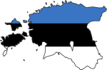Estonian Flag Map