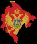 Montenegrin Flag Map